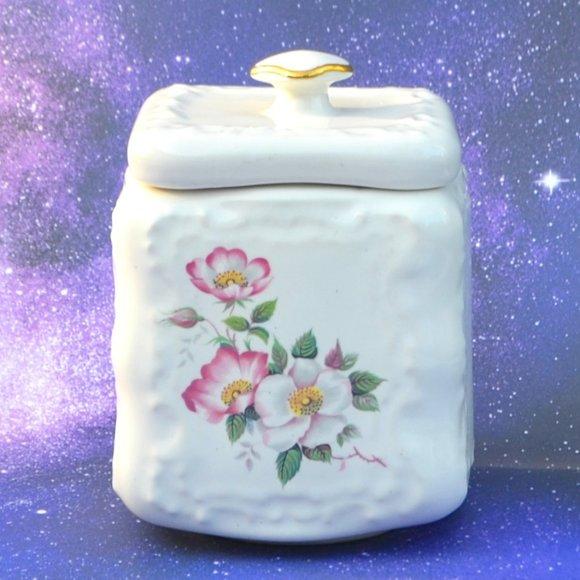 Vintage 70s House of Webster Briar Rose Jar